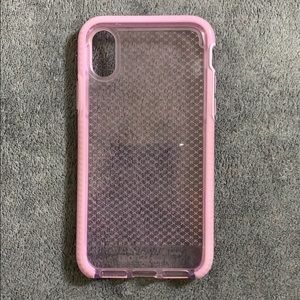 Accessories - clear pink phone case